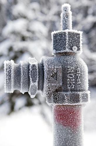 bevroren waterleiding hoeft niet meer